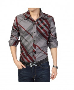 SEESEA Red Lining Slim Fit Long Sleeve Shirt