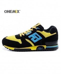 ONEMIX Black Yellow Retro Classic Casual Shoes
