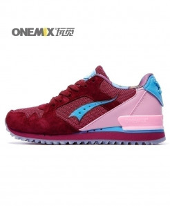 ONEMIX Wine Pink Retro Classic Casual Shoes