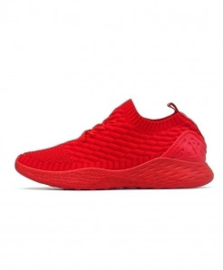 Hemmyi Red Breathable Non-slip Soft Mesh Casual Shoes