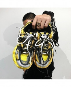 ZCHEKHEN Yellow Chunky Lace Up Casual Shoes
