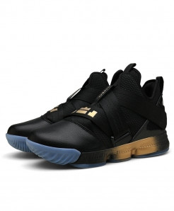 ZHJLUT Black Golden Lebron James Ankle Athletic Sport Shoes