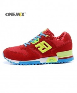 ONEMIX Fire Red Retro Classic Casual Shoes