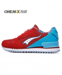 ONEMIX Red Blue Retro Classic Casual Shoes