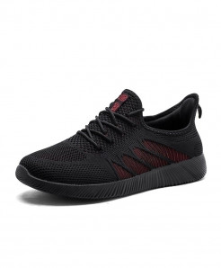 Joomra Black Breathable Comfortable Athletic Sports Shoes