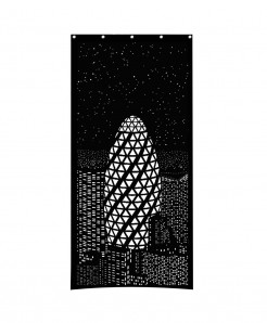 Black Night light Design Roller Blind Curtains