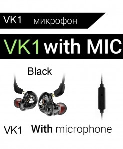 QKZ Black Clear Monito Earplug Handsfree