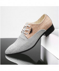 WHEATHUMMINGBIRD Gray British Pointed Formal Shoes