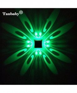 Tanbaby Green Modern Aluminum 3W LED Wall Lamp