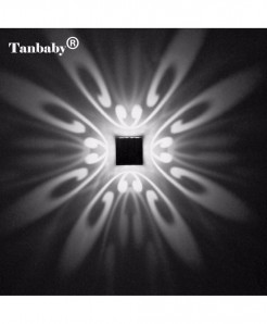 Tanbaby White Modern Aluminum 3W LED Wall Lamp