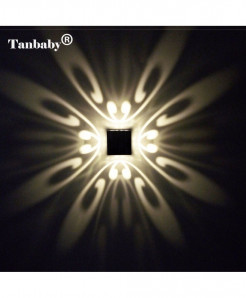 Tanbaby Warm White Modern Aluminum 3W LED Wall Lamp