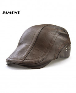 JAMONT PU Leather Comfortable  Adjustable Cap