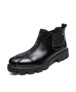 ECTIC Black Steampunk Design Casual Boots