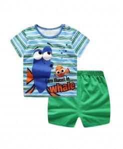 ABreeze Nemo Cartoon Printed O-Neck Baby Boy Dress