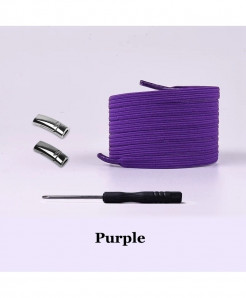 Purple Elastic Magnetic No Tie Shoe Laces