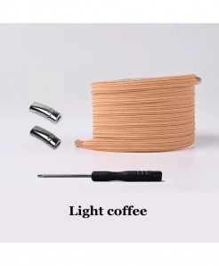 Light Coffee Elastic Magnetic No Tie Shoe Laces