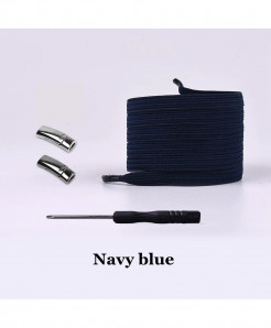 Navy Blue Elastic Magnetic No Tie Shoe Laces