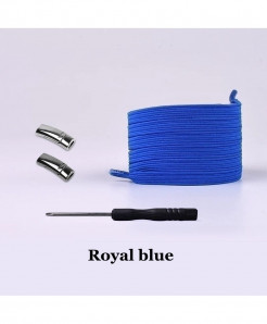 Royal Blue Elastic Magnetic No Tie Shoe Laces