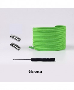 Green Elastic Magnetic No Tie Shoe Laces
