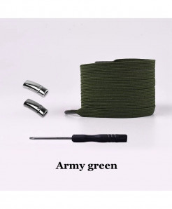 Army Green Elastic Magnetic No Tie Shoe Laces