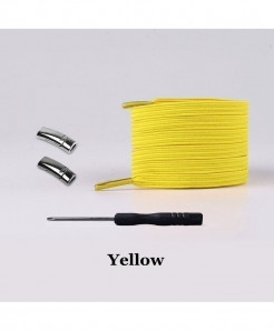 Yellow Elastic Magnetic No Tie Shoe Laces