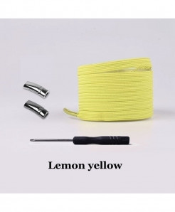 Lemon Yellow Elastic Magnetic No Tie Shoe Laces