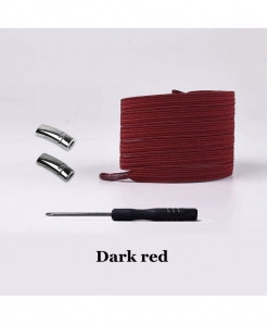 Dark Red Elastic Magnetic No Tie Shoe Laces