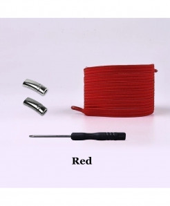 Red Elastic Magnetic No Tie Shoe Laces