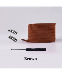 Brown Elastic Magnetic No Tie Shoe Laces