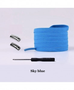 Sky Blue Elastic Magnetic No Tie Shoe Laces