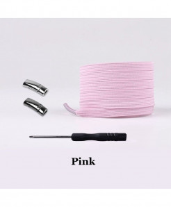 Pink Elastic Magnetic No Tie Shoe Laces