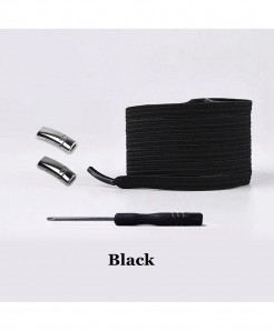 Black Elastic Magnetic No Tie Shoe Laces