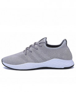 JUNJARM Gray Bresdaathable Casual Shoes