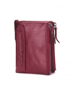 CONTACT Reddish Pink Crazy Leather Designer Wallet T-471