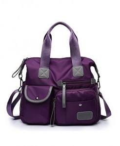 DIZHIGE Purple Waterproof Designer Big Capacity Shoulder Bag