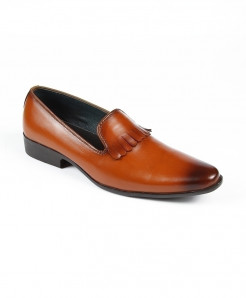 Mustard Leather Formal Shoes LC-379