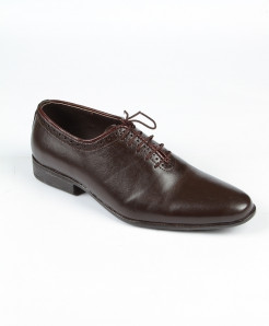Choco Brown Leather Lace Up Style Formal Shoes LC-372