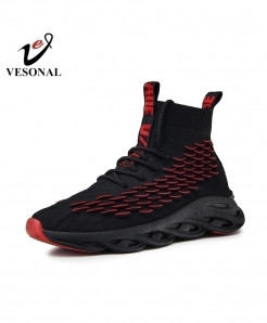 VESONAL Red Fish Scales Lightweight Breathable Shoes
