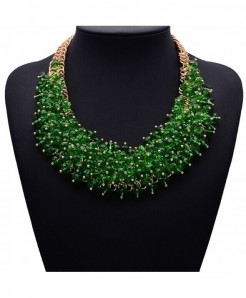 Vedawas Green Fashion Choker Necklace Bib Collar Necklace