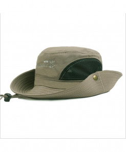 RoxCober Light Green Cotton Breathable Panama Sun Hat