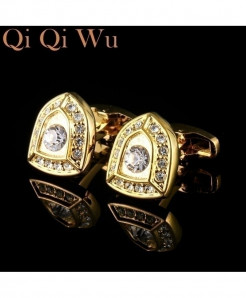 Qi Qi Wu Classic Luxury French Shirt Sleeve Buttons Knight Design Cufflinks