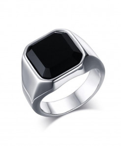 OBSEDE Silver Punk Titanium Steel Ring S-2