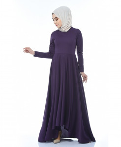 Dim Indigo Slim Fit Frock Style Ladies Abaya FLK-443