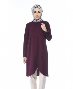 Purple Flap Butterfly Tunic Style Short Kurti FLK-414