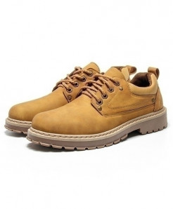 URBANFIND Yellow Cow Leather Casual Shoes