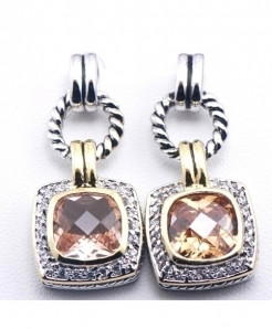 Weinuo Silver Plated Trendy 925 Crystal Earrings