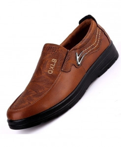 QIYHONG Brown Mesh Faux Suede Casual Shoes