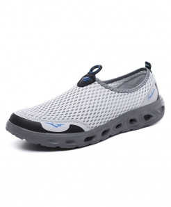 PUAMSS Gray Slip-On Lightweight Casual Shoes