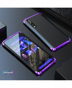 Coku Black Purple Luxury Shockproof Armor Metal Top Phone Cases For Huawei