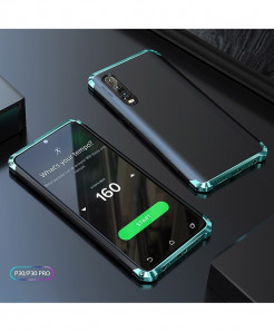 Coku Black Green Luxury Shockproof Armor Metal Top Phone Cases For Huawei